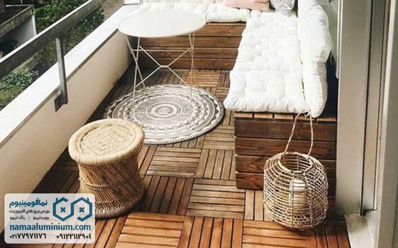 کفپوش چوبی فضای باز با چوب ترمو